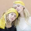 mustard silk open turban