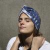 indigo batik open turban