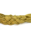 mustard gold rib braid headband