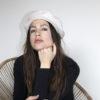 bone white beret