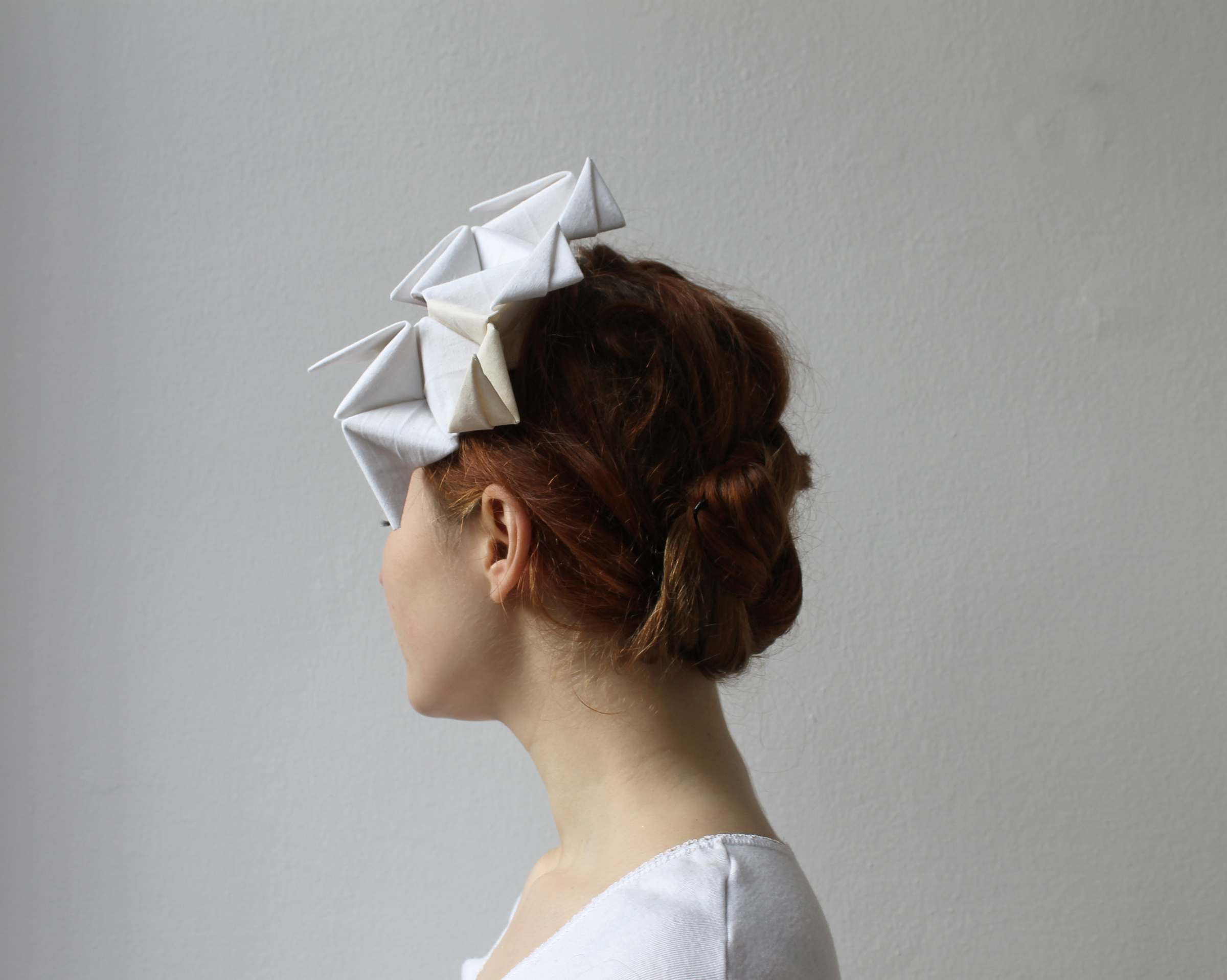 Custom made bridal wedding headpiece