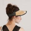 Raffia black visor