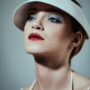 white canvas visor